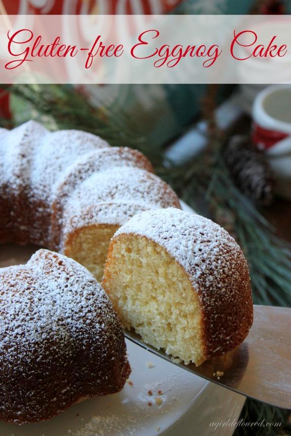 gluten-free eggnog cake