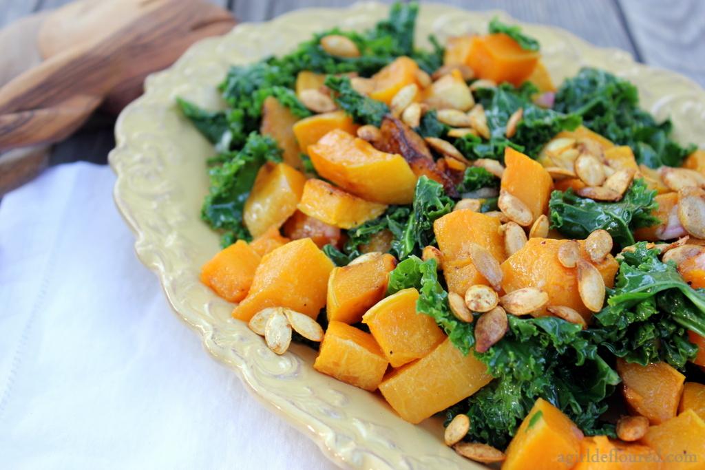 Butternut Squash & Kale Salad