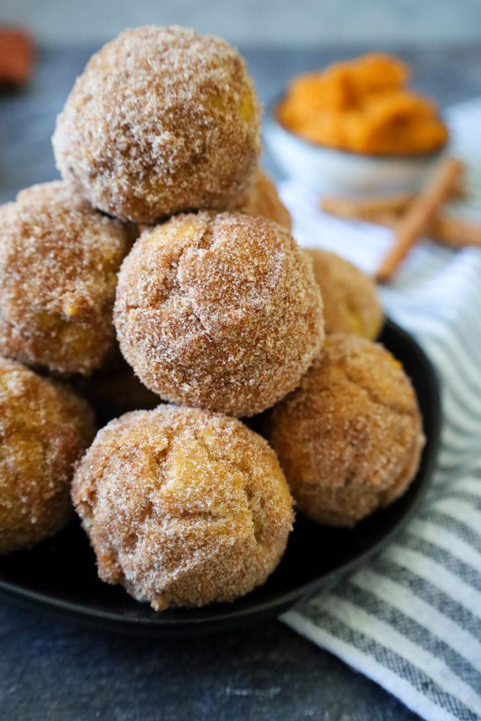 Gluten Free Pumpkin Spice Doughnut Holes