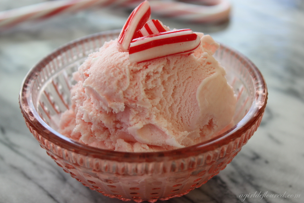 ... christmas sweets was pink peppermint ice cream this ice cream is