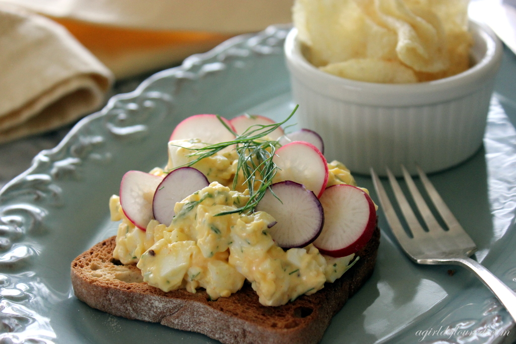 Egg Salad with Fennel and Radish