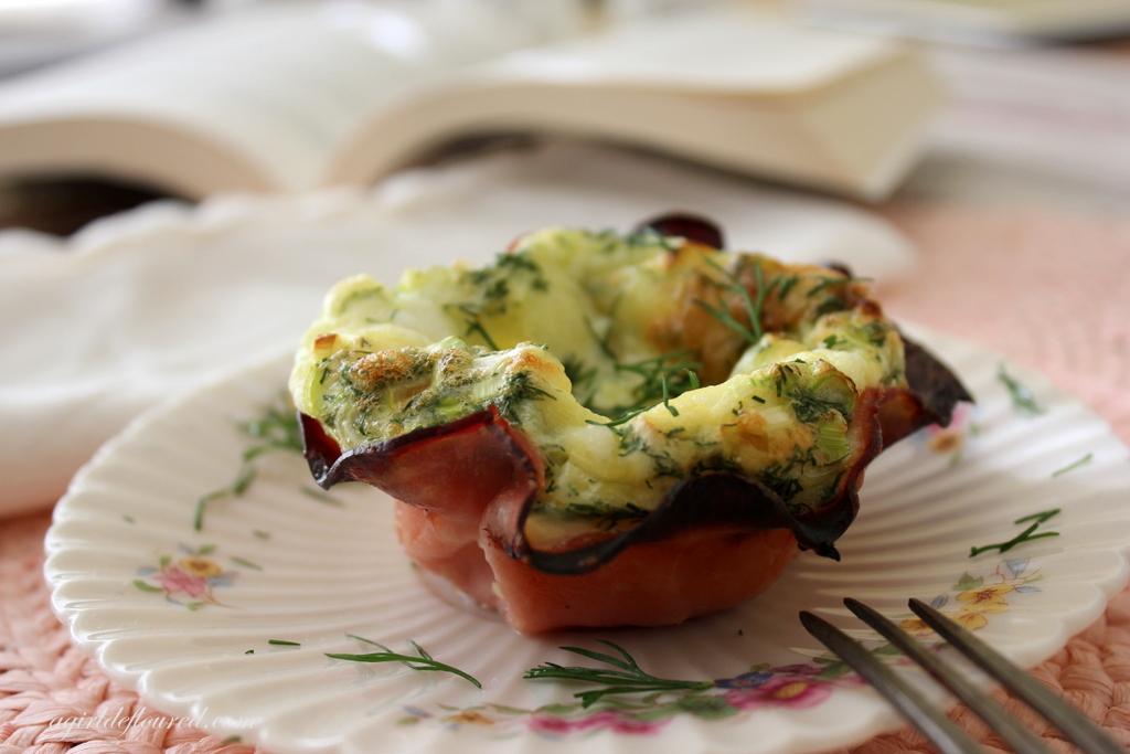 Baked Ham and Dilly Egg Cups