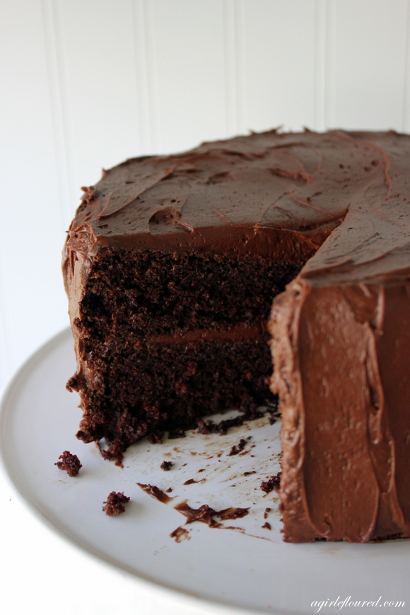 Chocolate cake using gluten free flour