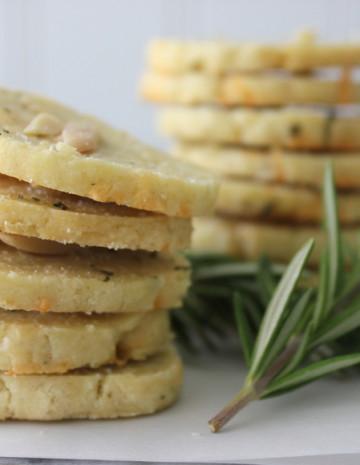 Gluten Free Savory Shortbread Crackers