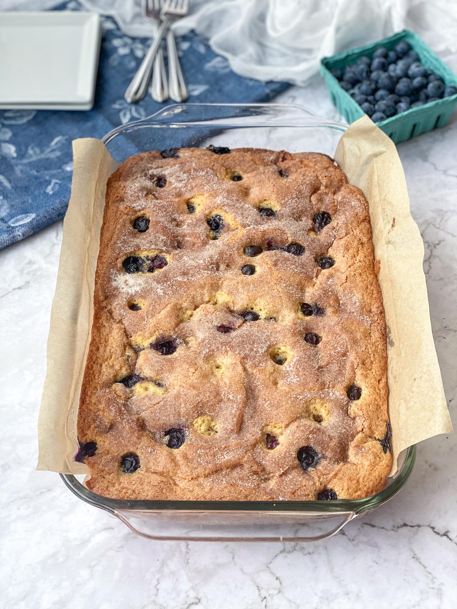 Gluten-Free Blueberry Breakfast Cake