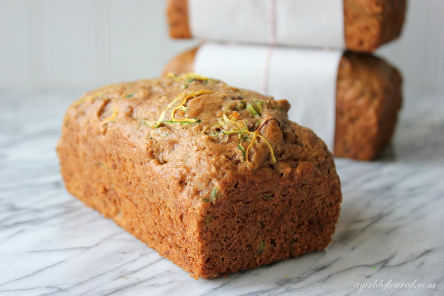 Gluten Free Carrot Zucchini Bread With Himalayan Salt