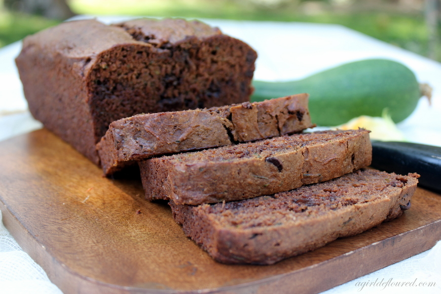 Sliced Gluten Free Double Chocolate Zucchini Bread