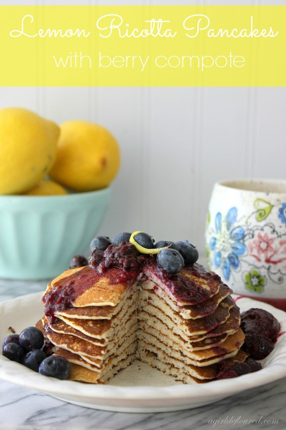 lemon ricotta pancakes  a girl defloured