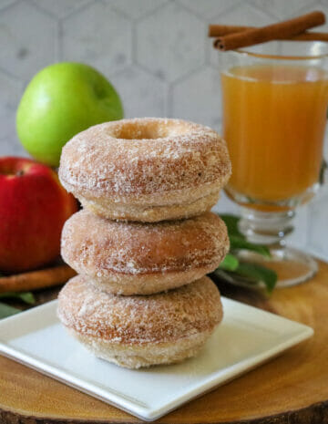 Baked Gluten Free Apple Cider Doughnuts Horiziontal
