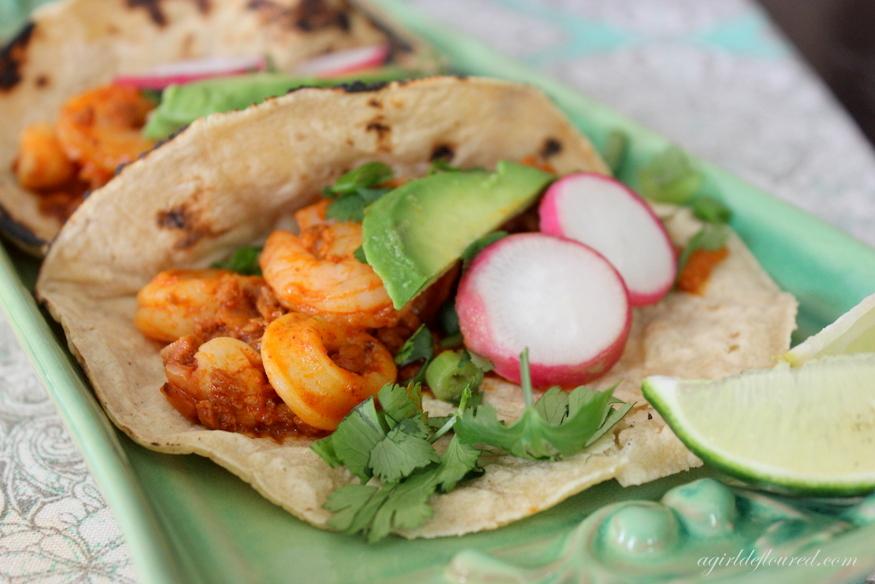 seafood and chorizo soft tacos
