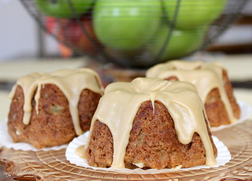 Gluten Free Mini Caramel Apple Cakes