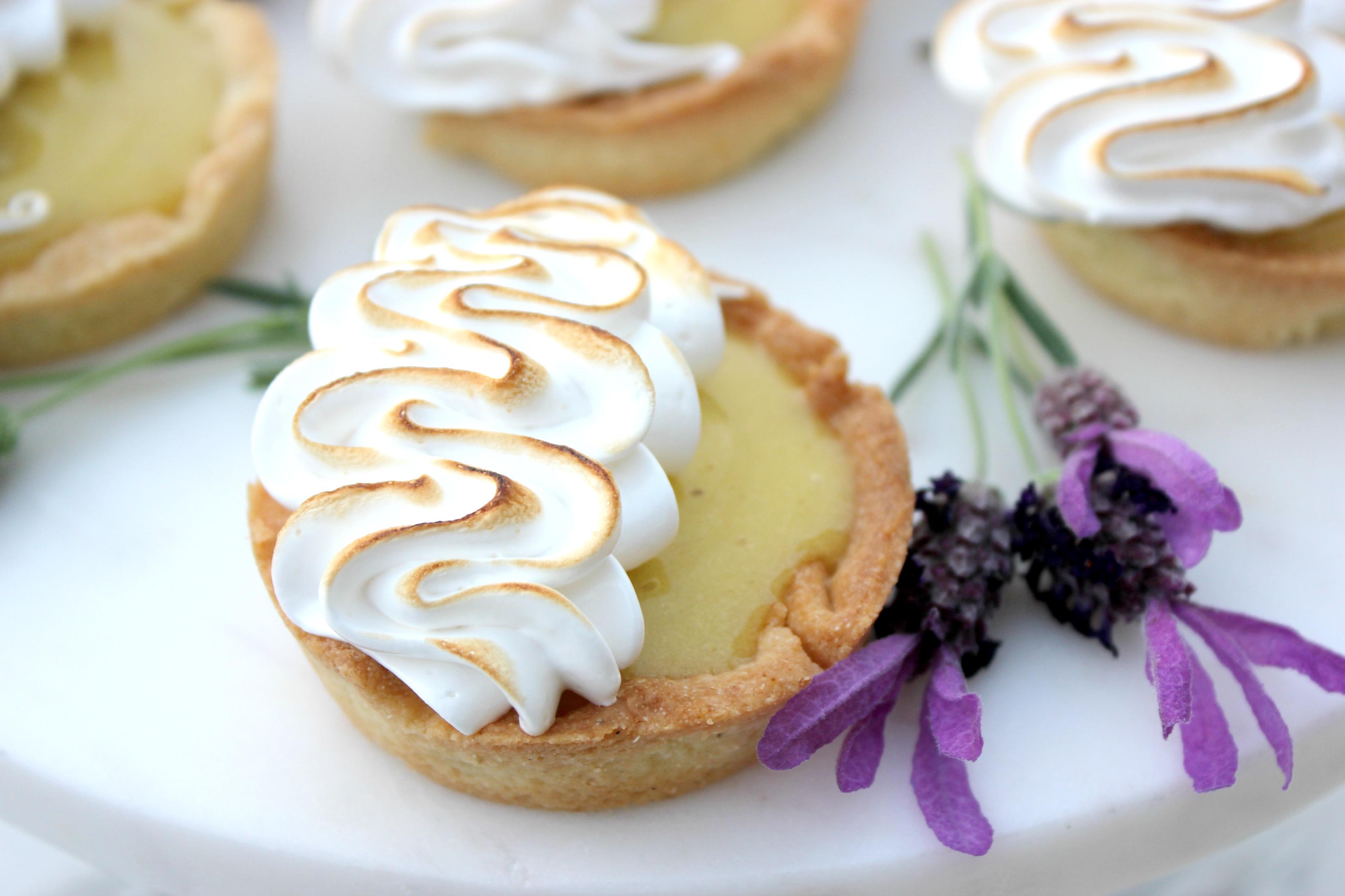 Gluten-Free Lemon Lavender Tarts