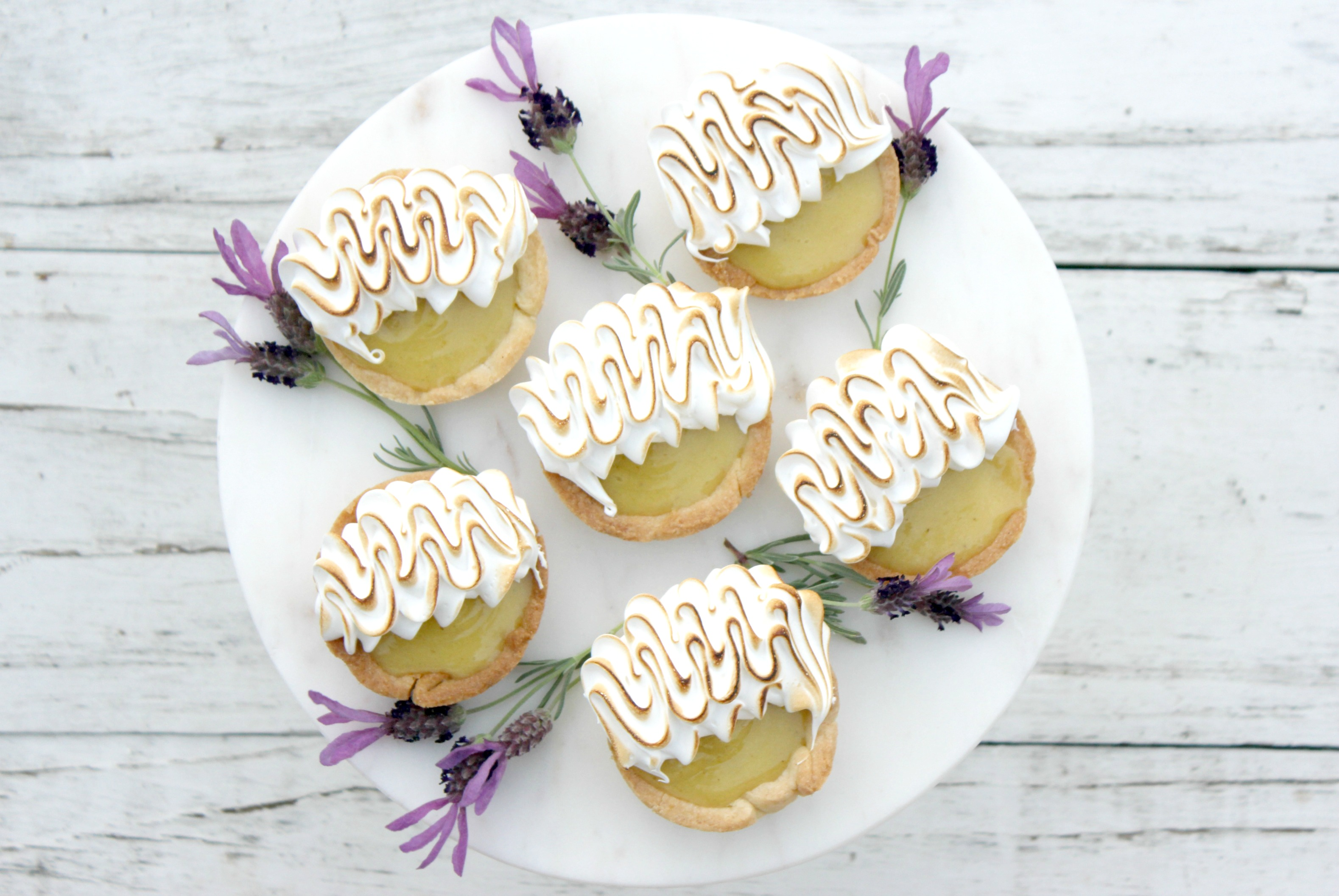 Lemon Lavender Tarts