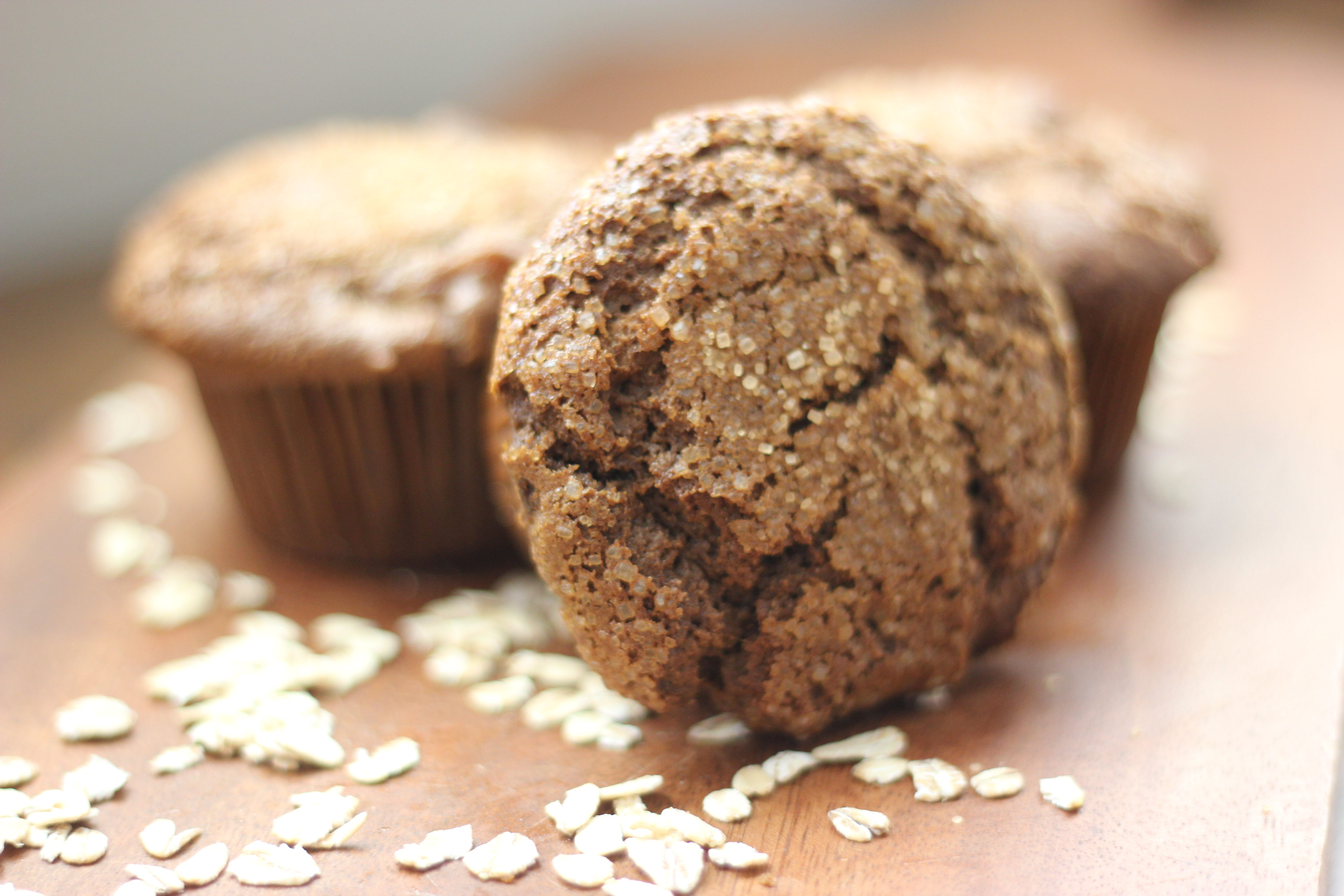 Gluten-Free Pear Gingerbread Muffins