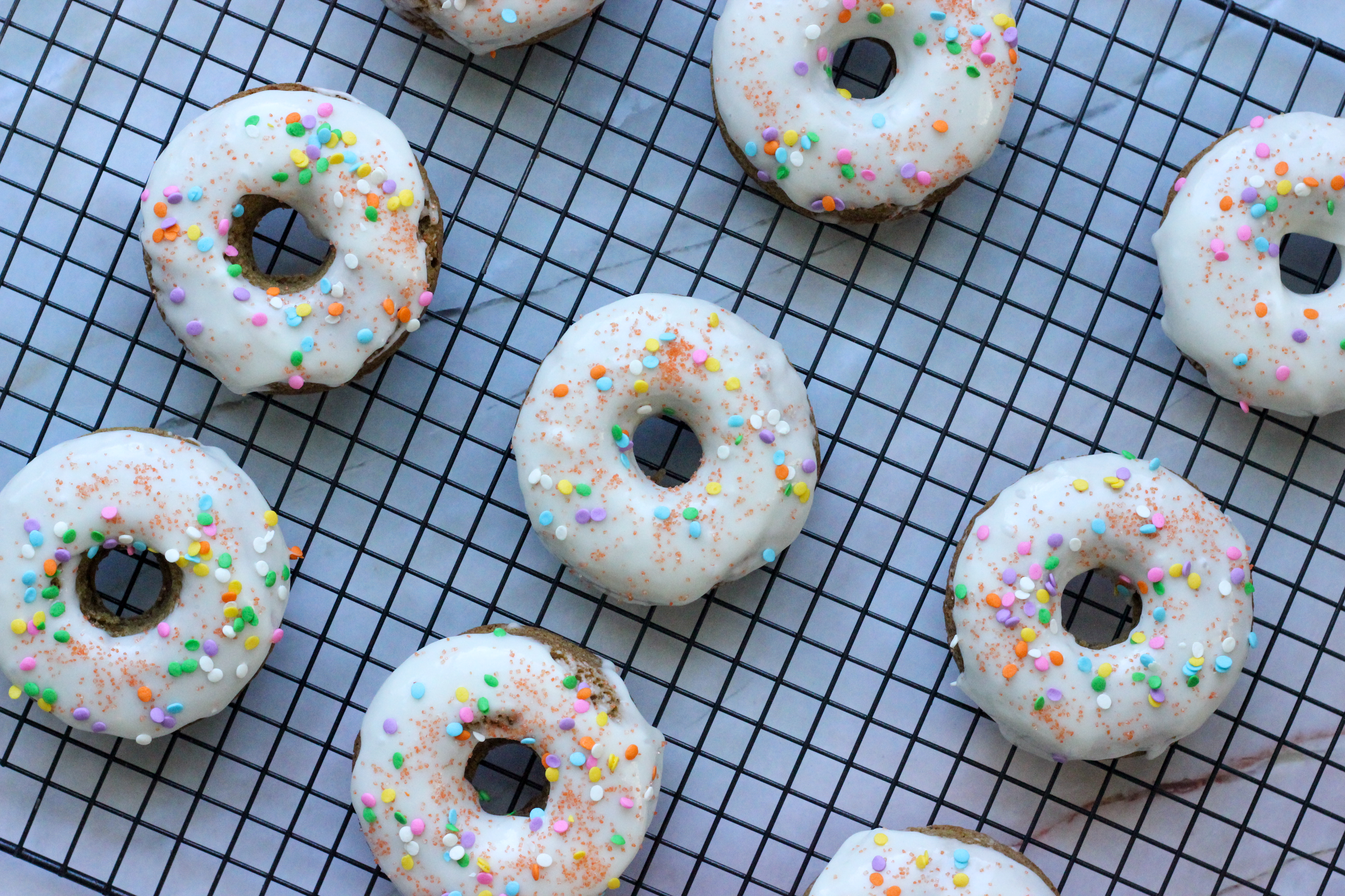 Gluten-Free Carrot Cake Doughnuts