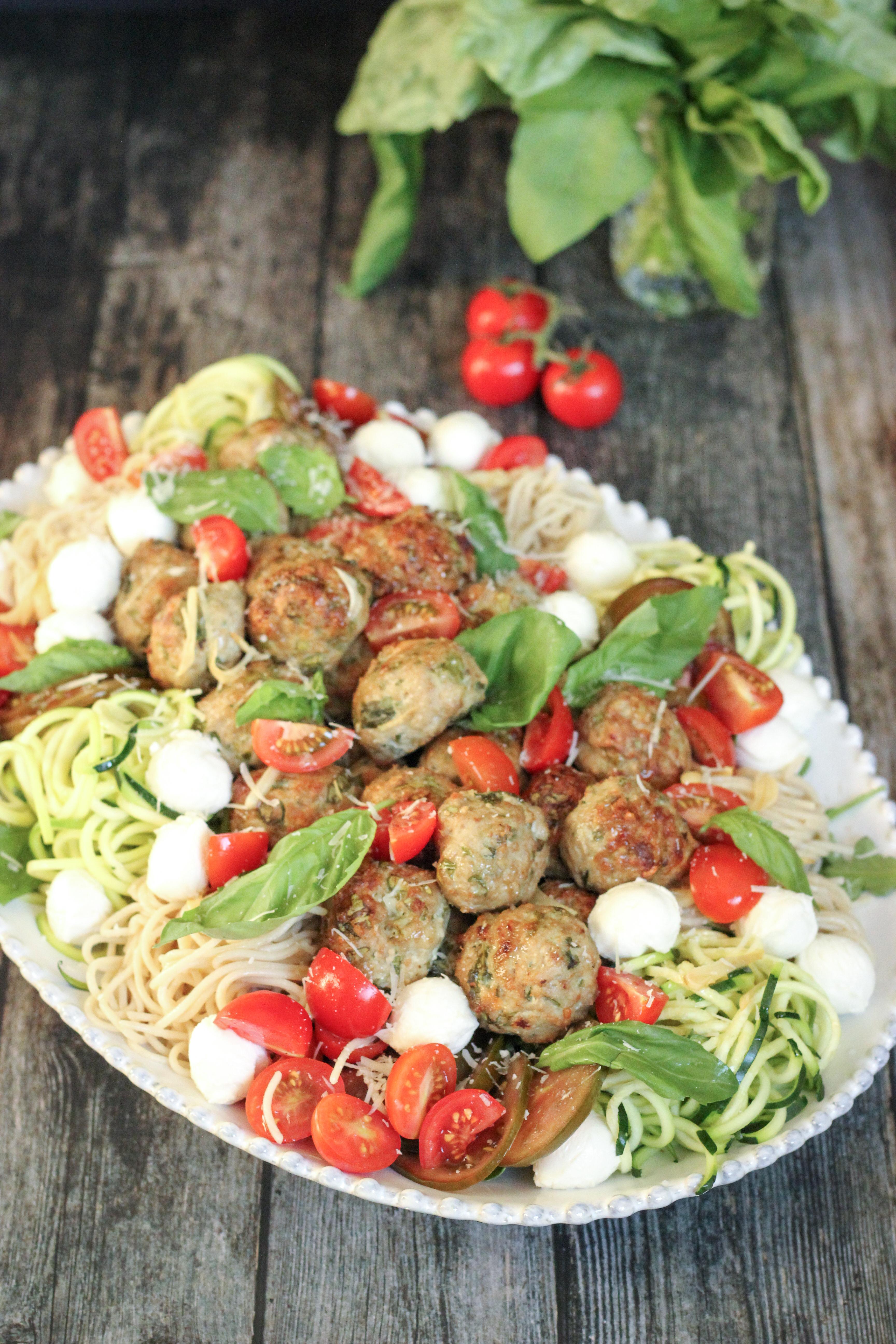 Chicken Arugula Meatball Platter