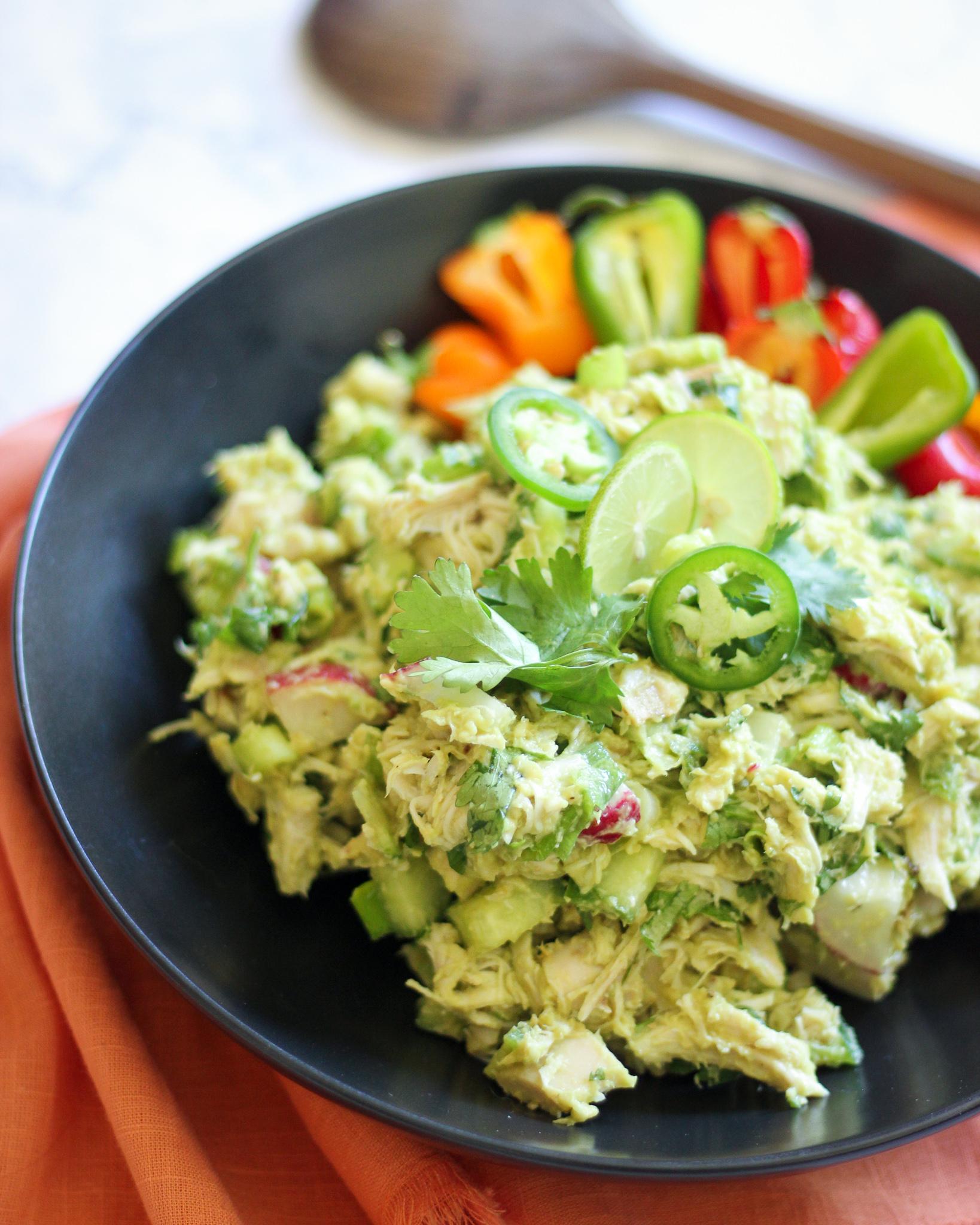 The Best No Mayo Avocado Chicken Salad