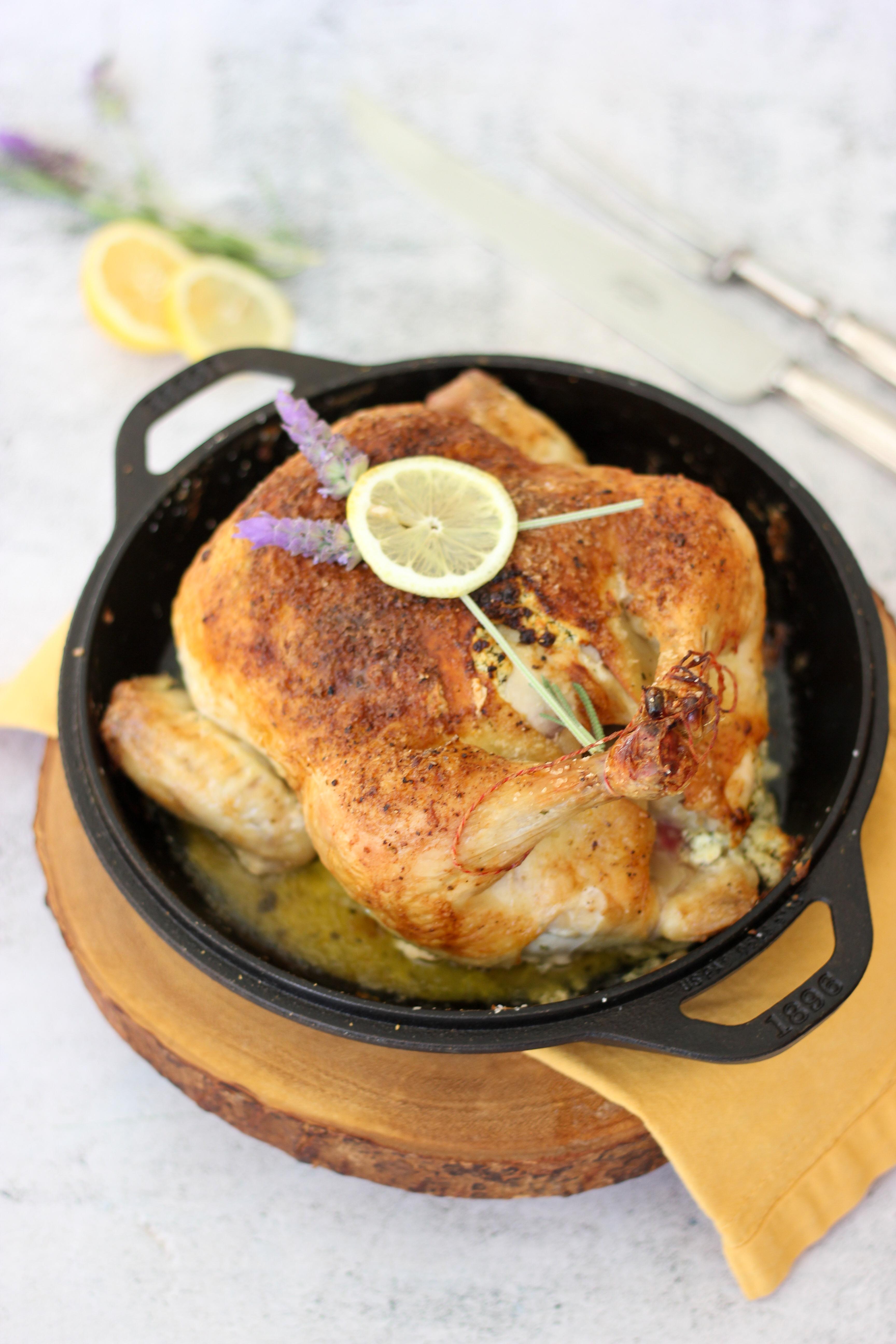 Lemon Lavender Roast Chicken