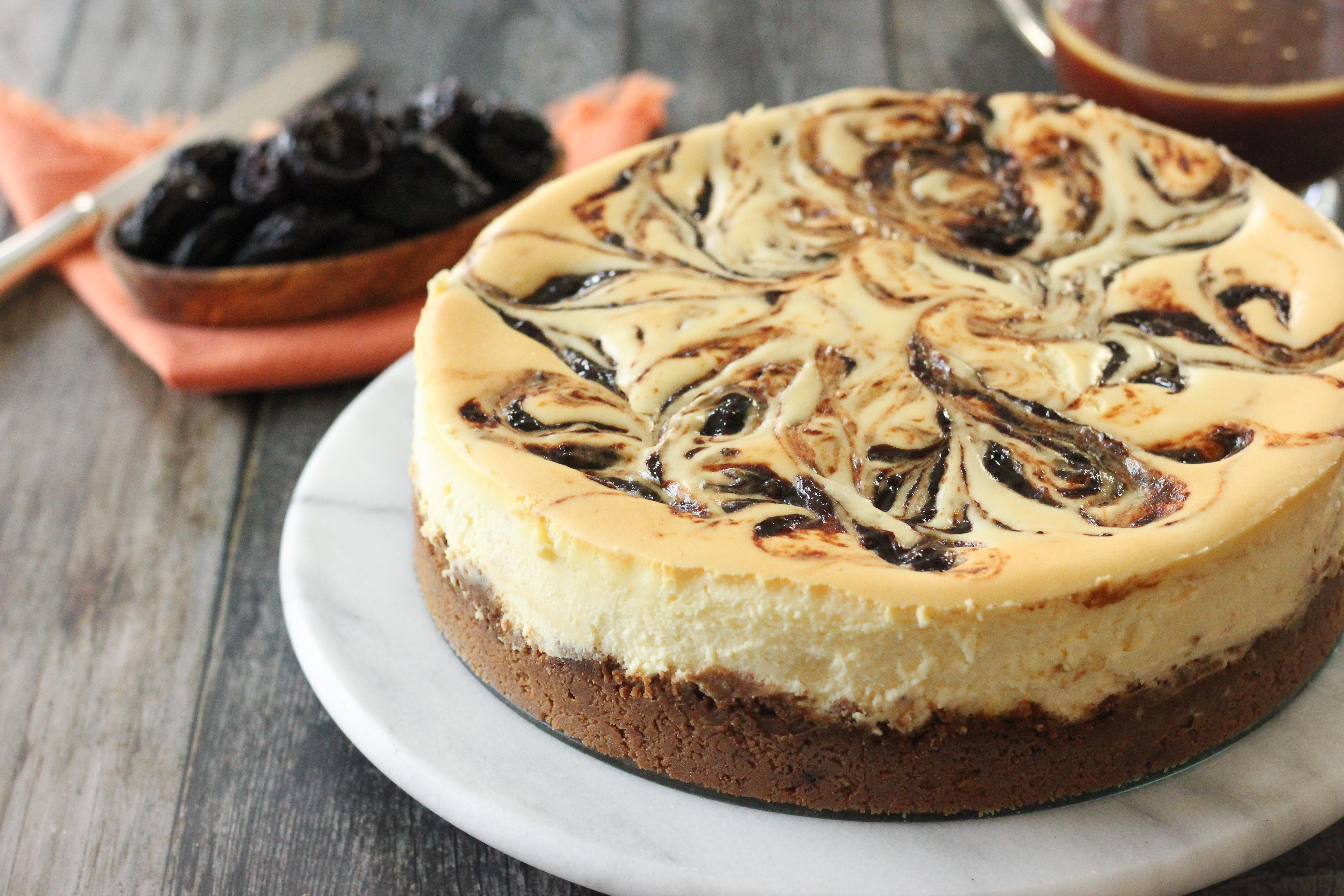 Prune Cheesecake Salted Caramel Sauce