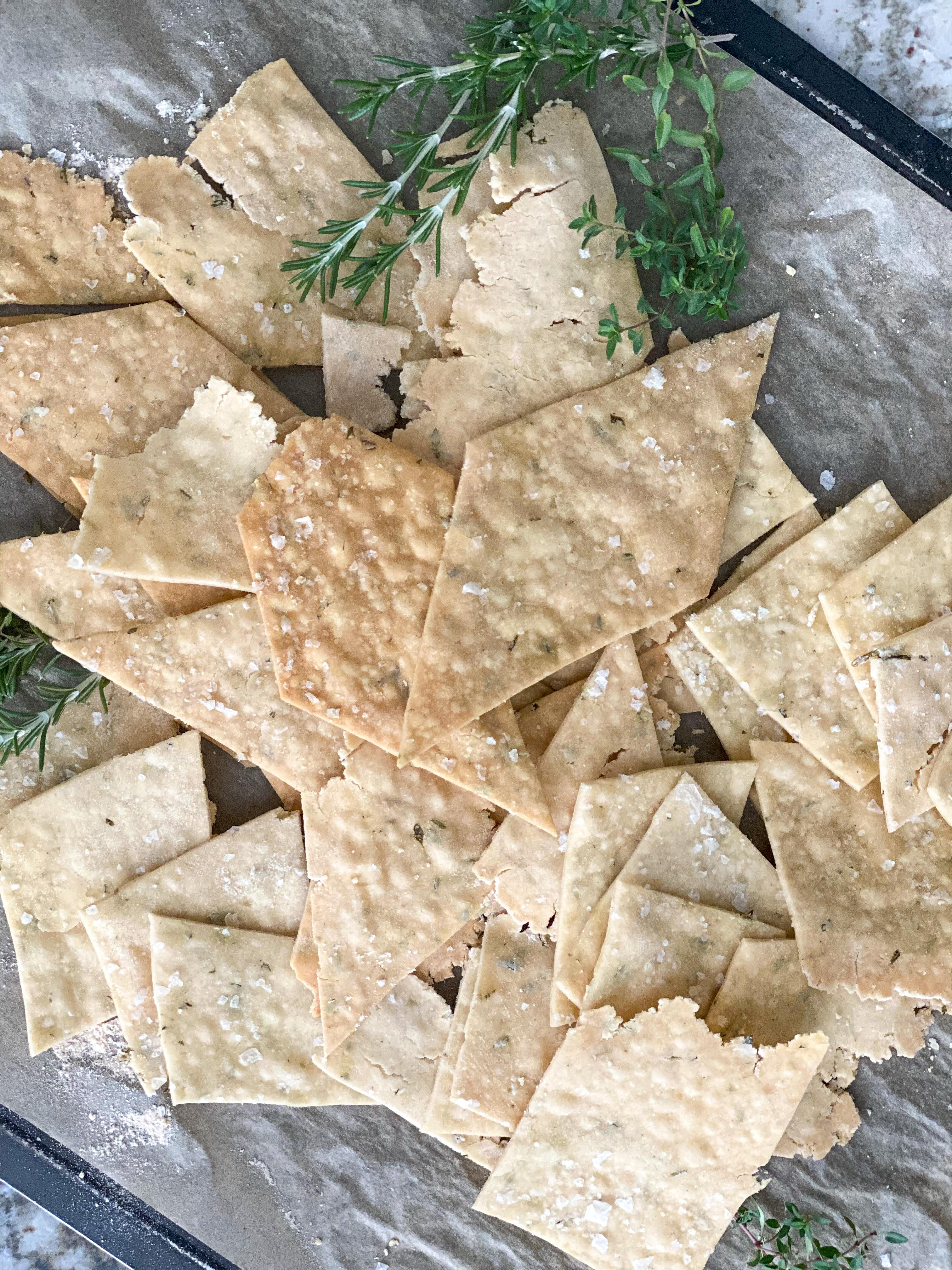 Herbed Gluten-free Sourdough Crackers