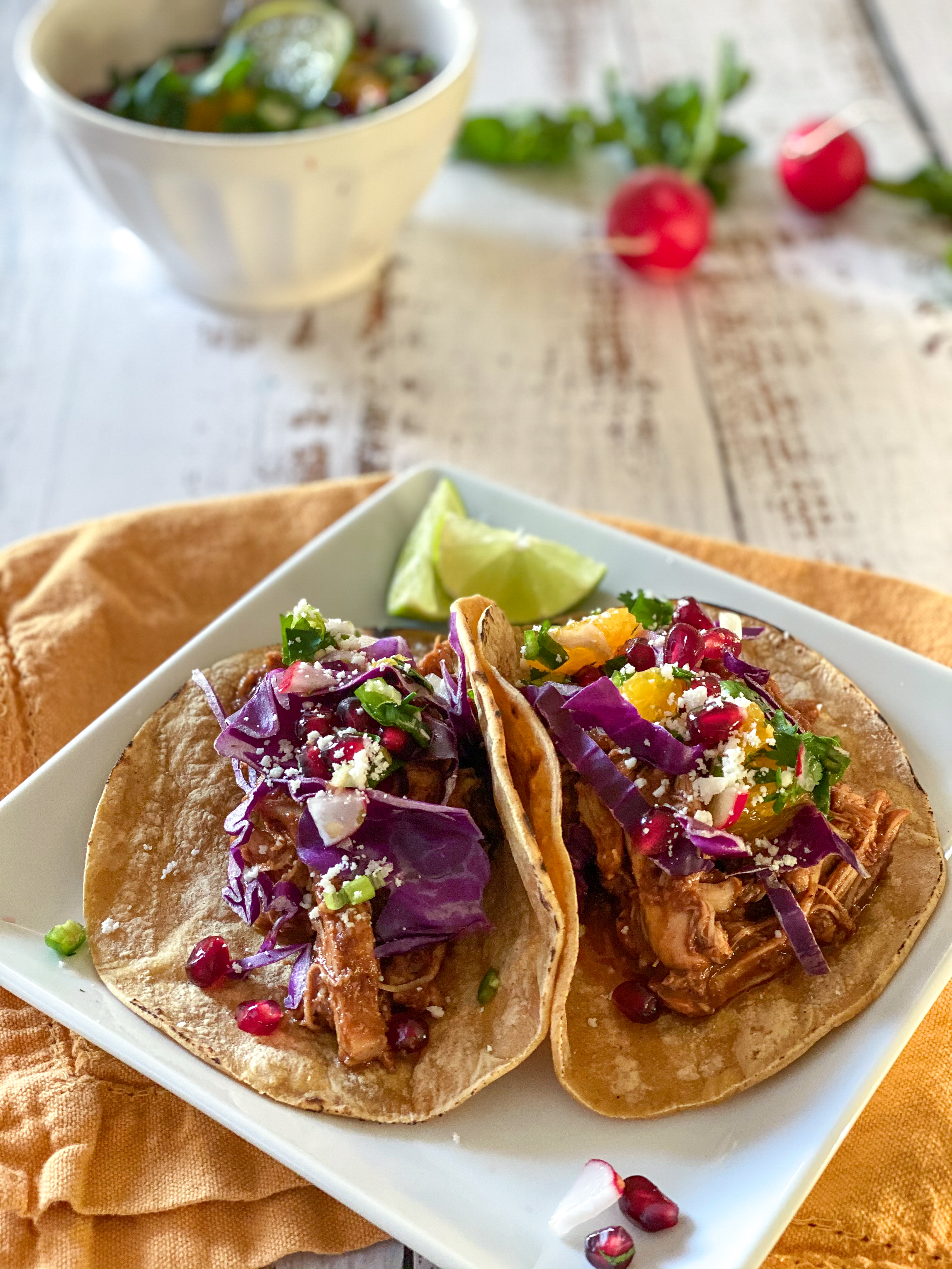 Instant Pot Chicken Mole Tacos