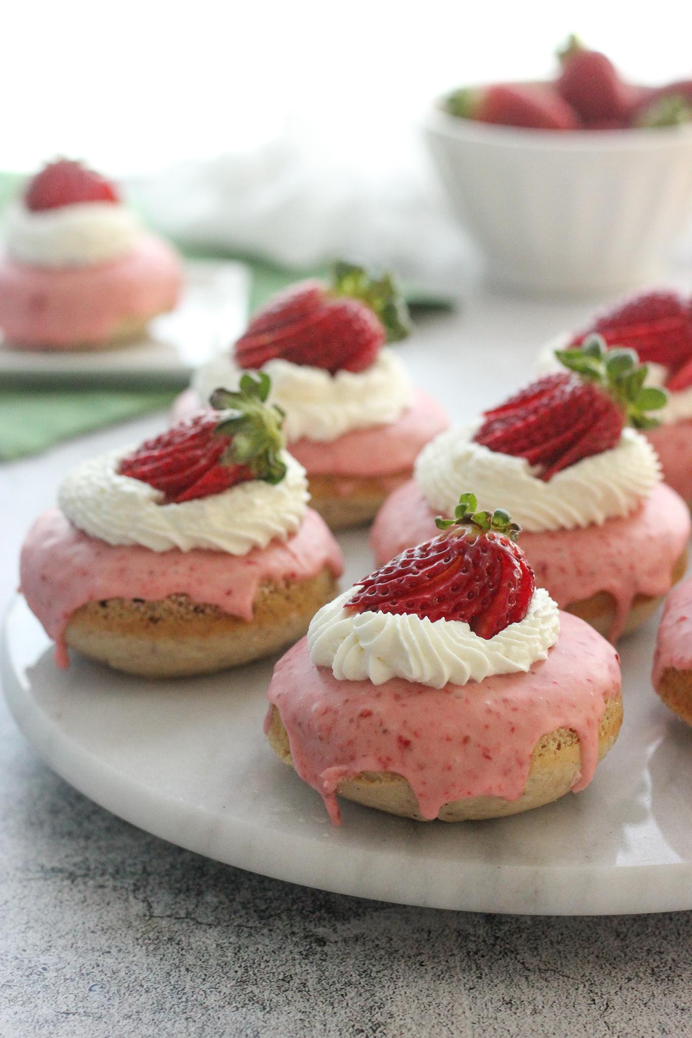 Gluten Free Strawberry Shortcake Buttermilk Doughnuts