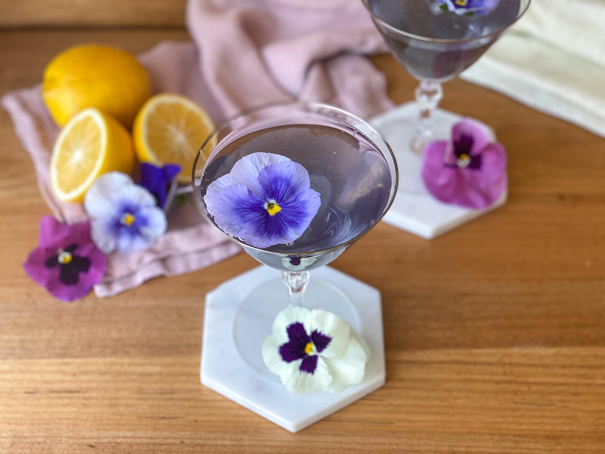 Violet Champagne Cocktail