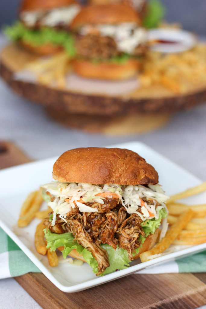 Pulled Chicken Sandwiches with Prune BBQ Sauce