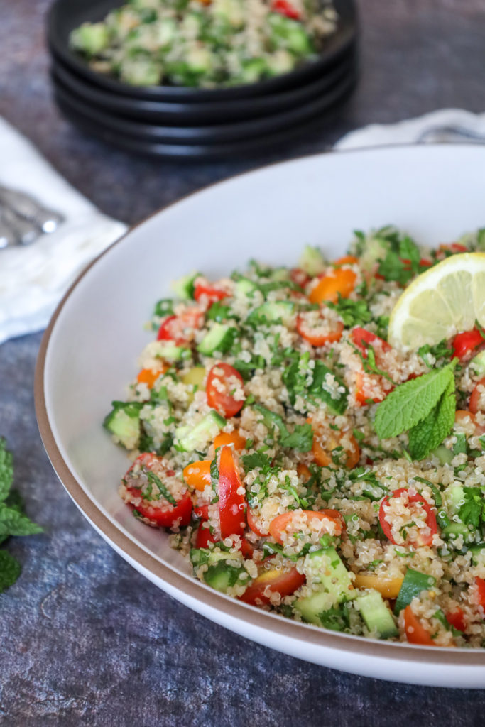 Naturally Gluten-Free Tabbouleh with Quinoa