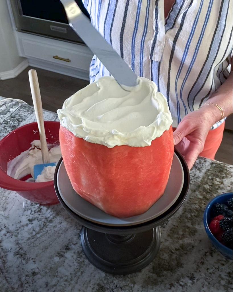 How to Make a Fresh Watermelon Cake - Step 3