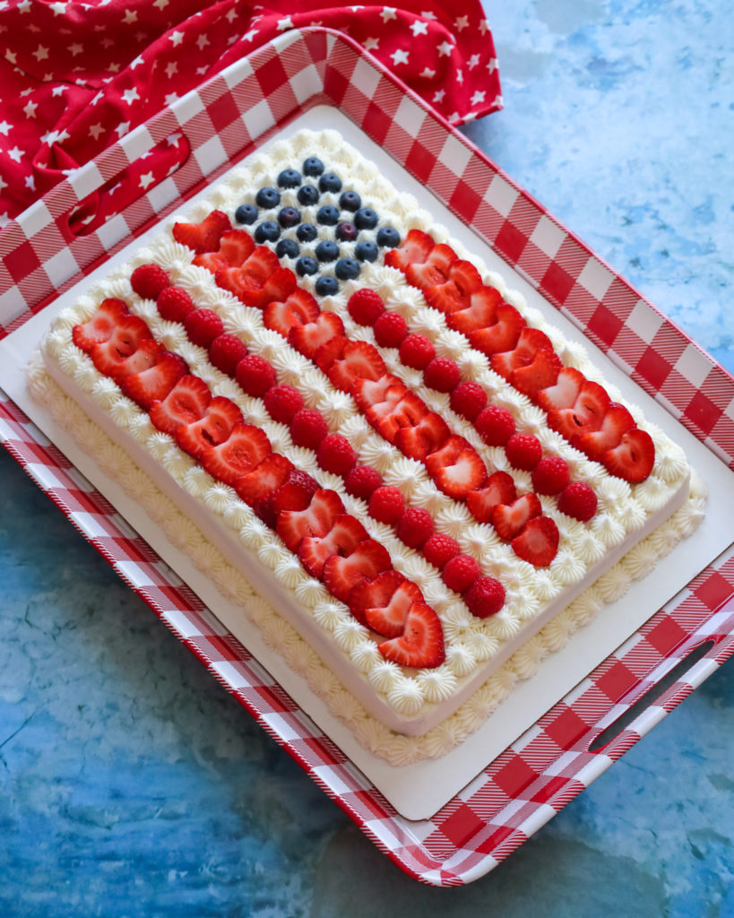 The Best Ever Gluten Free American Flag Cake