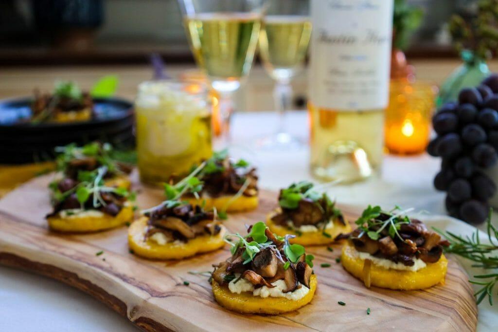 Roasted Mushroom Recipe with Polenta
