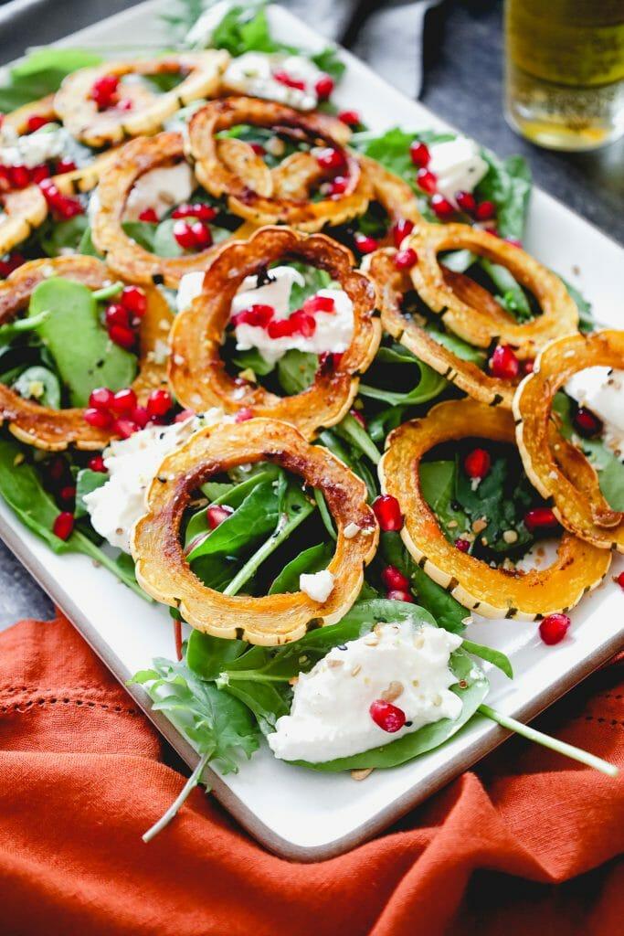 Squash Burrata Salad for Thanksgiving